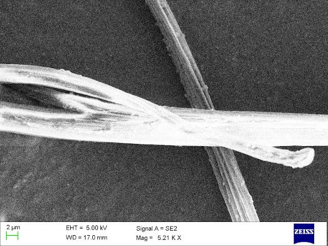 Close up of a Nylon fiber